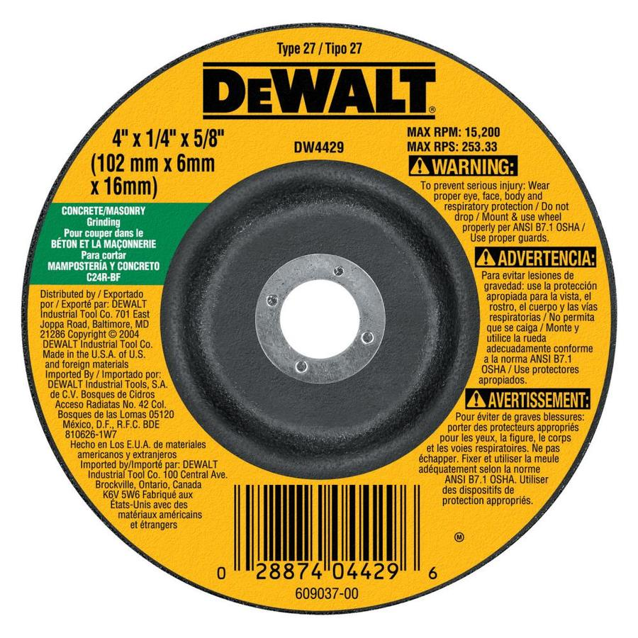 DEWALT Silicon Carbide 4-in Grinding Wheel