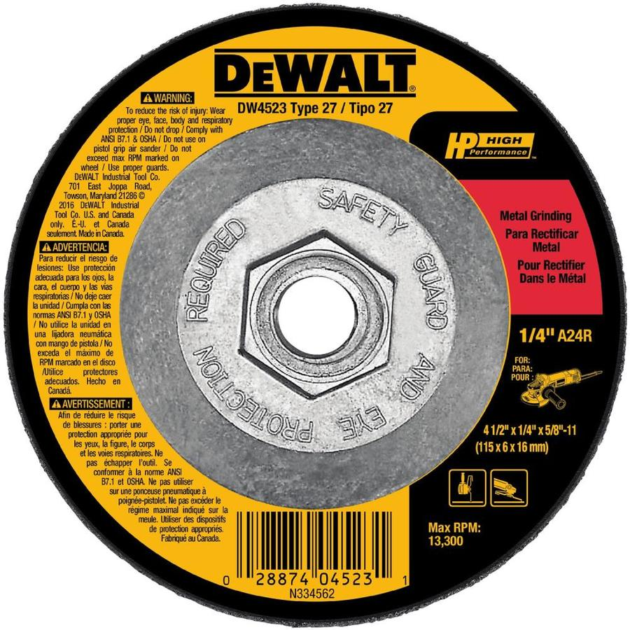 Shop Dewalt Aluminum Oxide 4 5 In Grinding Wheel At Lowes Com
