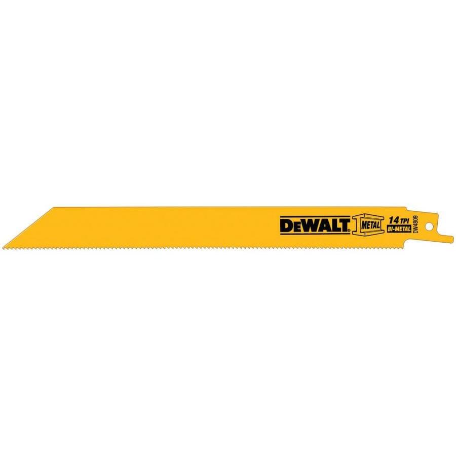 DEWALT 5-Pack 8-in 14-TPI Bi-Metal Reciprocating Saw Blade Set