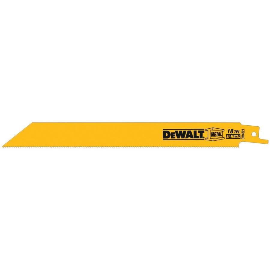 DEWALT 5-Pack 8-in 18-TPI Bi-Metal Reciprocating Saw Blade Set