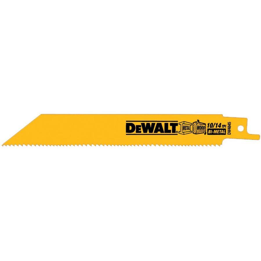 DEWALT 5-Pack Bi-Metal Reciprocating Saw Blade Set