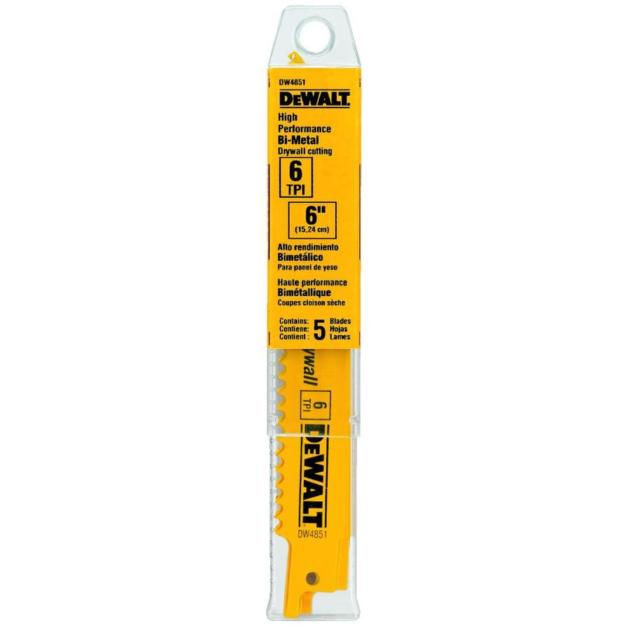 DEWALT 5-Pack Bi-Metal Reciprocating Saw Blade Set