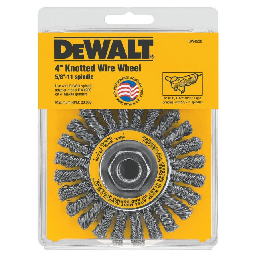 DEWALT 4-in x 5/8-11-in Cable Twist Wire Wheel