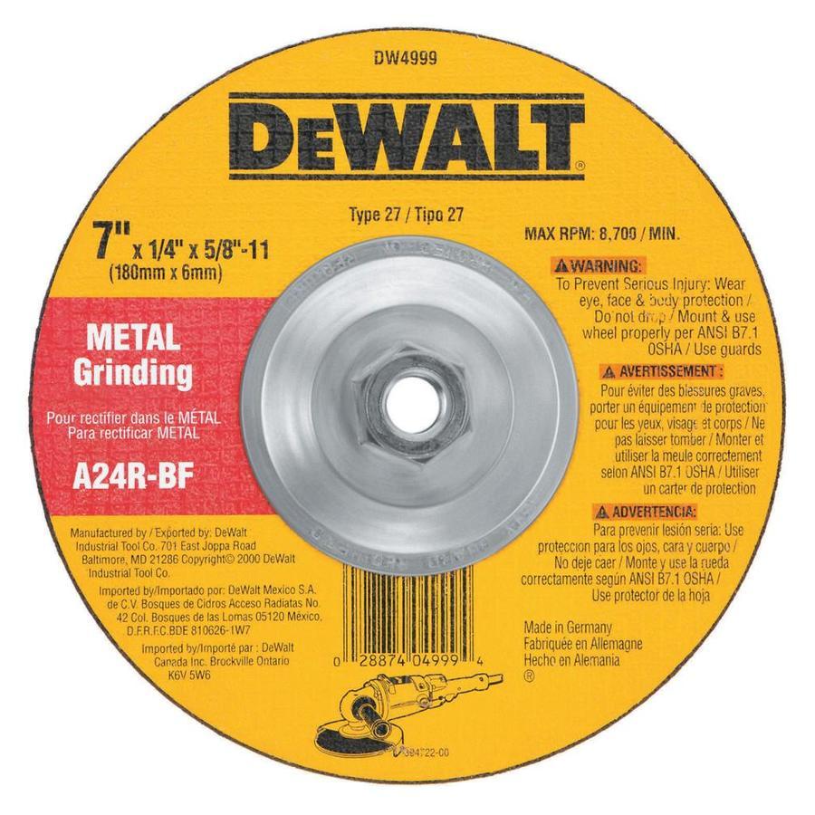 DEWALT Aluminum Oxide 7-in Grinding Wheel