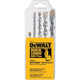 DEWALT 5-Piece x Sds-plus Hammer Drill Masonry Drill Bit for Concrete