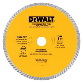 DEWALT 7-in Wet or Dry Continuous Diamond Tile Saw Blade