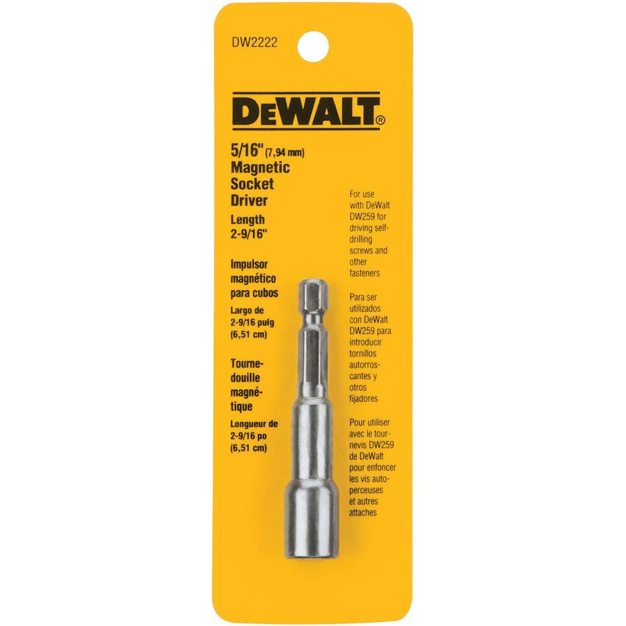 DEWALT 5/16-in x 2-9/16-in SAE Hex Nut Driver
