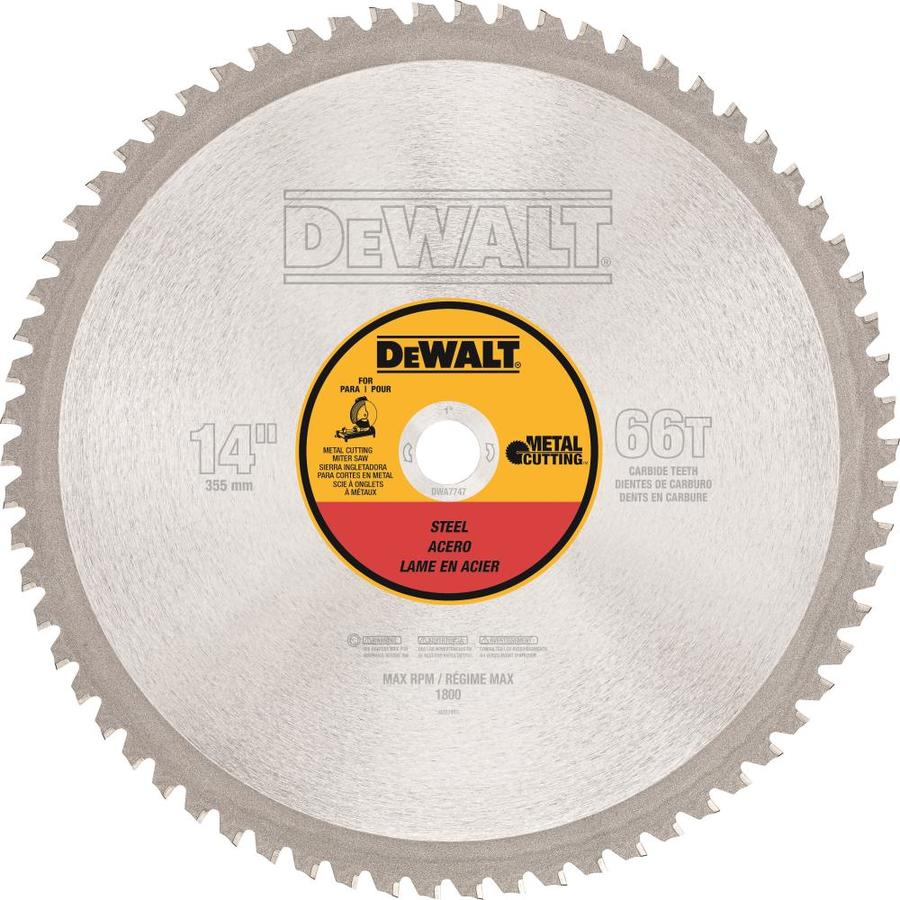 Dewalt 14 In 66 Tooth Carbide Chop Saw Blade In The Circular Saw Blades Department At Lowes Com