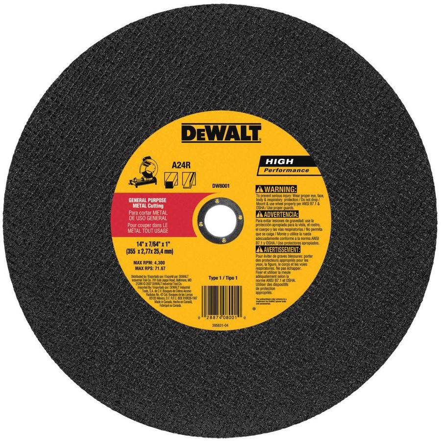 DEWALT 14-in Dry Continuous High-Performance Aluminum Oxide Circular Saw Blade