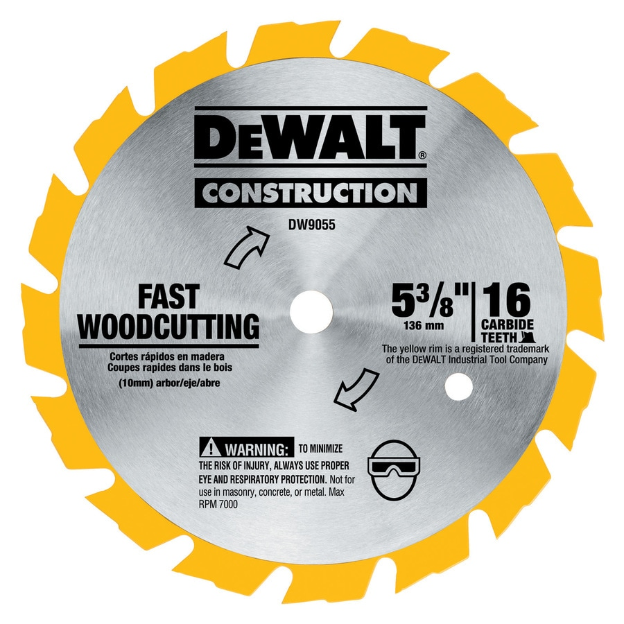 DEWALT 5-3/8-in 16-Tooth Standard Tooth Carbide Circular Saw Blade