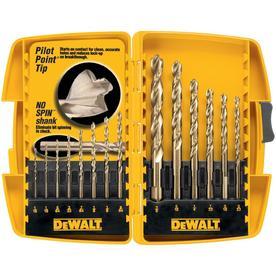 DEWALT 14-Piece Set Gold Ferrous Coated HSS Twist Drill Bit Set
