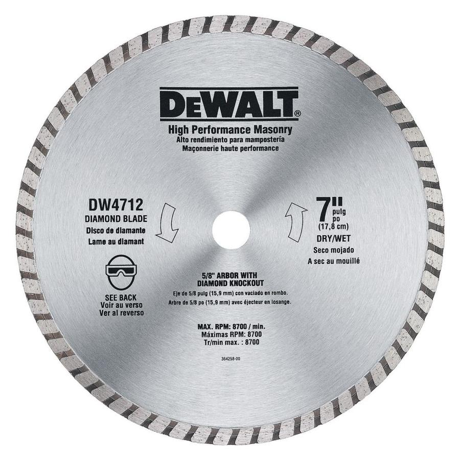 Shop dewalt construction 7 in wet or dry continuous diamond circular dewalt construction 7 in wet or dry continuous diamond circular saw blade keyboard keysfo Images