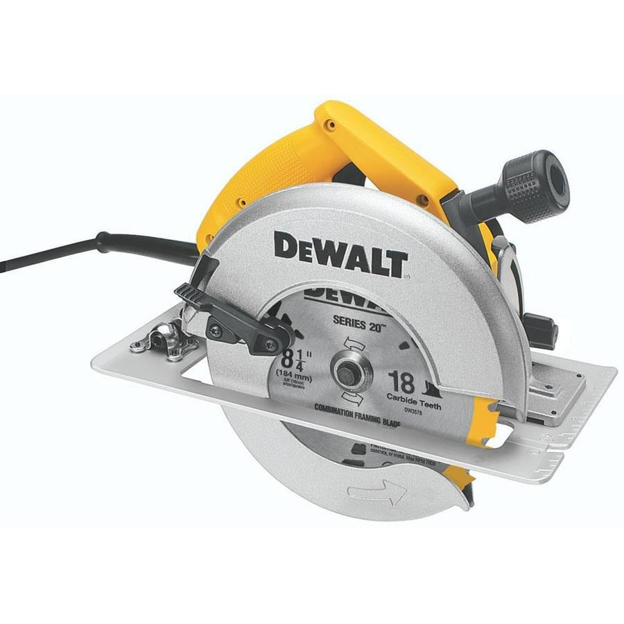 Shop DEWALT 15-Amp 8-1/4-in Corded Circular Saw with Brake ...