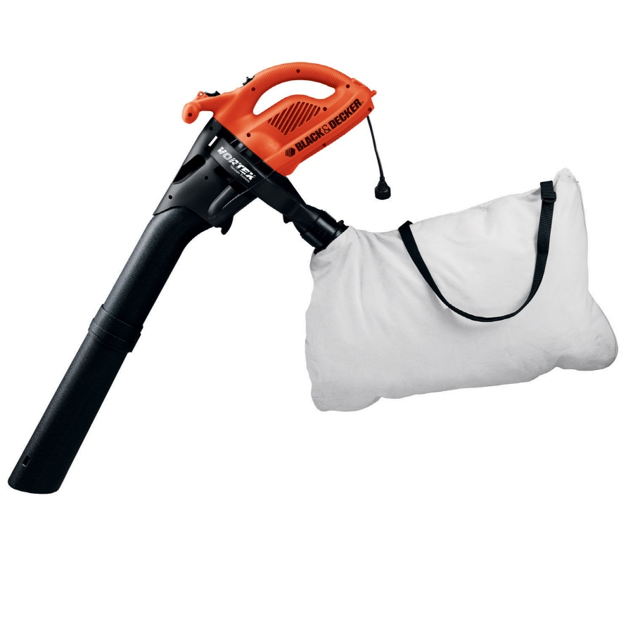 BLACK & DECKER 12-Amp 320-CFM 200-MPH Sweeper Corded Electric Leaf Blower Vacuum Kit Included