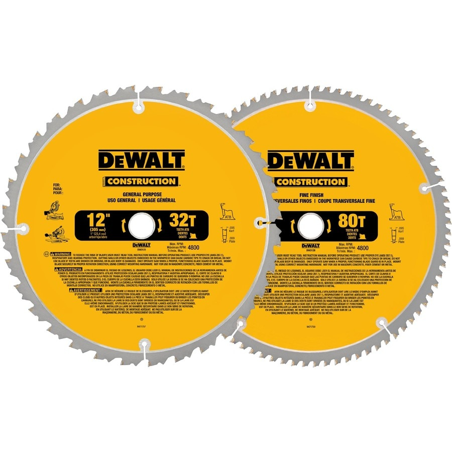 Shop Dewalt 12 In Circular Saw Blade Set At Lowes Com