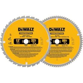 DEWALT Construction 2-Pack 12-in Set-Tooth Segmented Carbide Miter/Table Saw Blade Set