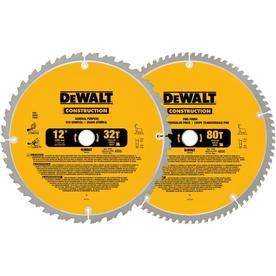 dewalt 12in circular saw blade set