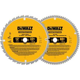 DEWALT 2-Pack 12-in 80-Tooth Segmented Carbide Miter/Table Saw Blade Set
