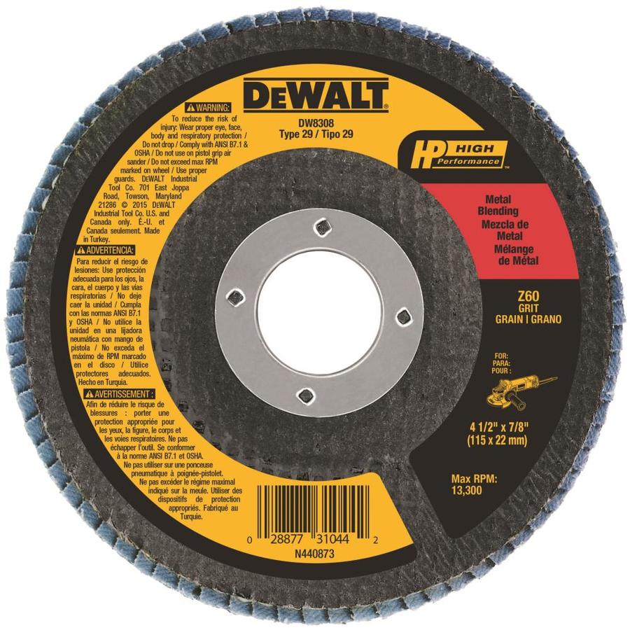 DEWALT Zirconia 4.5-in 60-Grit Grinding Wheel