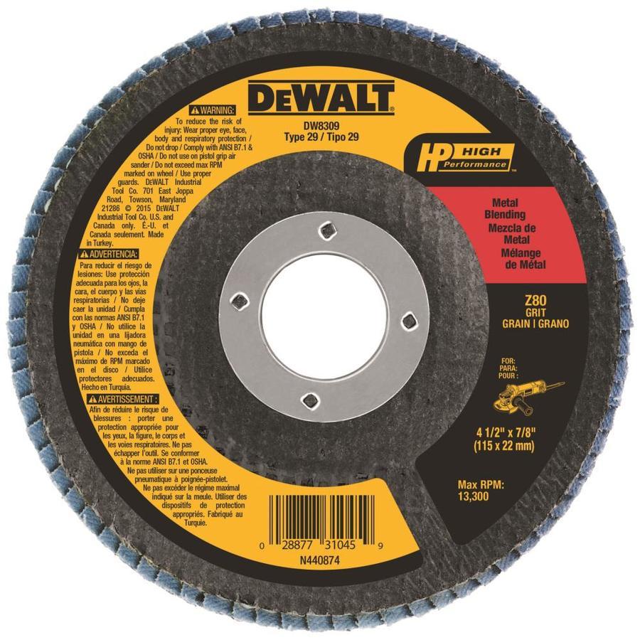 DEWALT Zirconia 4.5-in 80-Grit Grinding Wheel