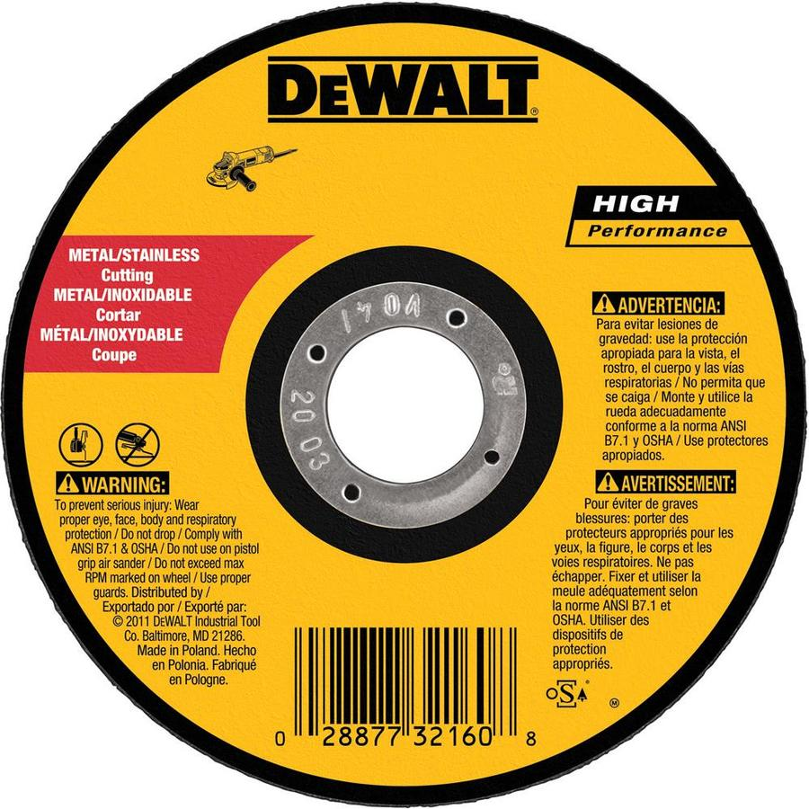 DEWALT Aluminum Oxide 5-in 60-Grit Grinding Wheel