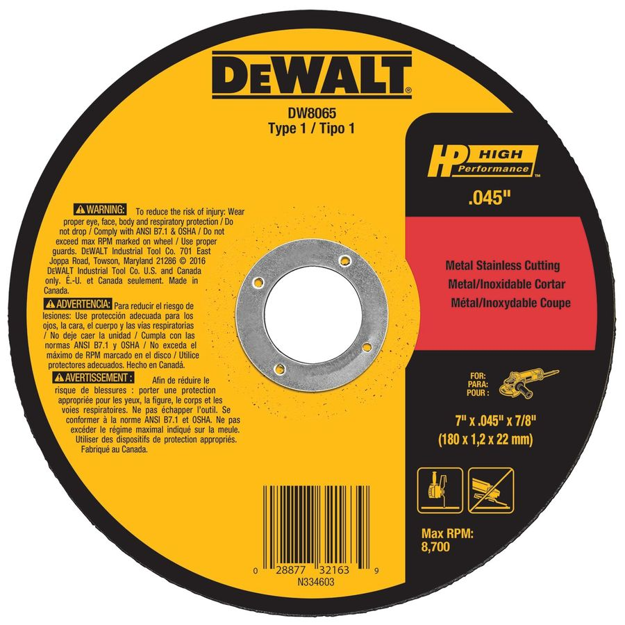 DEWALT 7-in Dry Continuous High-Performance Aluminum Oxide Circular Saw Blade