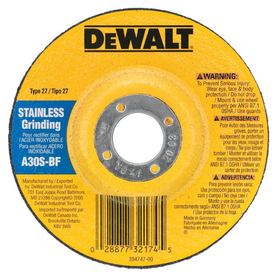 DEWALT Aluminum Oxide 4.5-in Grinding Wheel