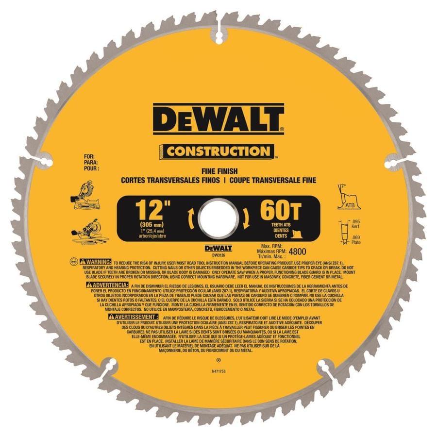 Dewalt Construction 12 In 60 Tooth