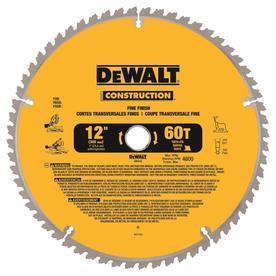 DEWALT Construction 12-in 60-Tooth Tungsten Carbide-Tipped Steel Miter Saw Blade
