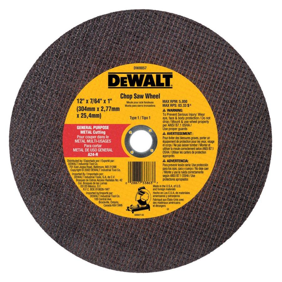 DEWALT 12-in Dry Turbo High-Performance Aluminum Oxide Circular Saw Blade