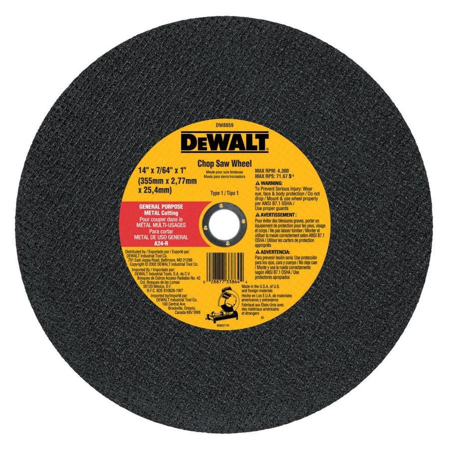 DEWALT 14-in Dry Turbo High-Performance Aluminum Oxide Circular Saw Blade