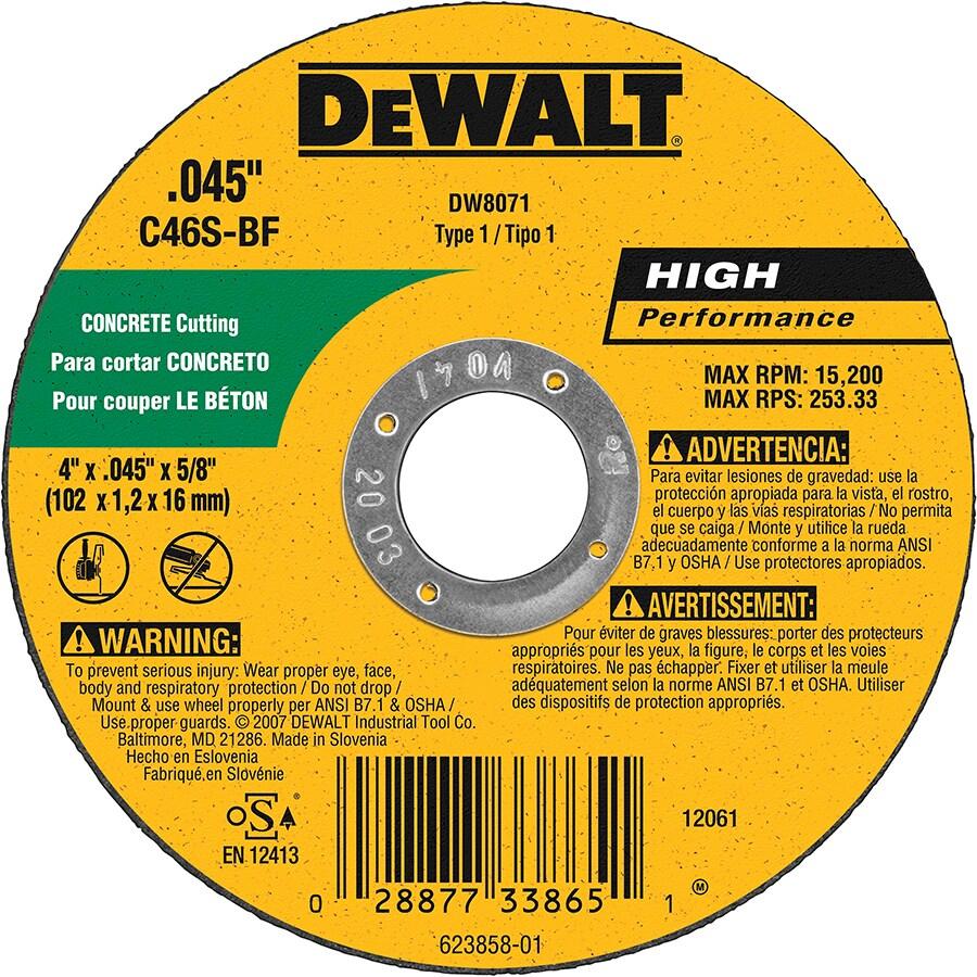 DEWALT Silicon Carbide 4-in Grinding Wheel