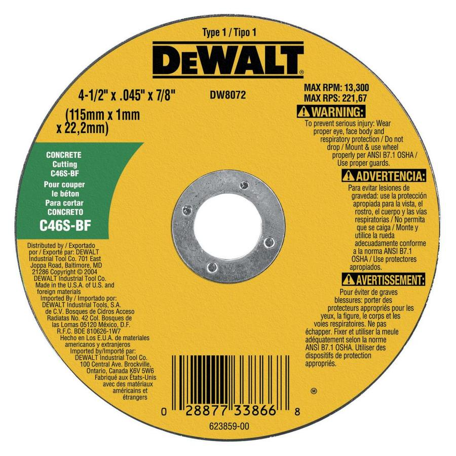 DEWALT Silicon Carbide 4.5-in Grinding Wheel
