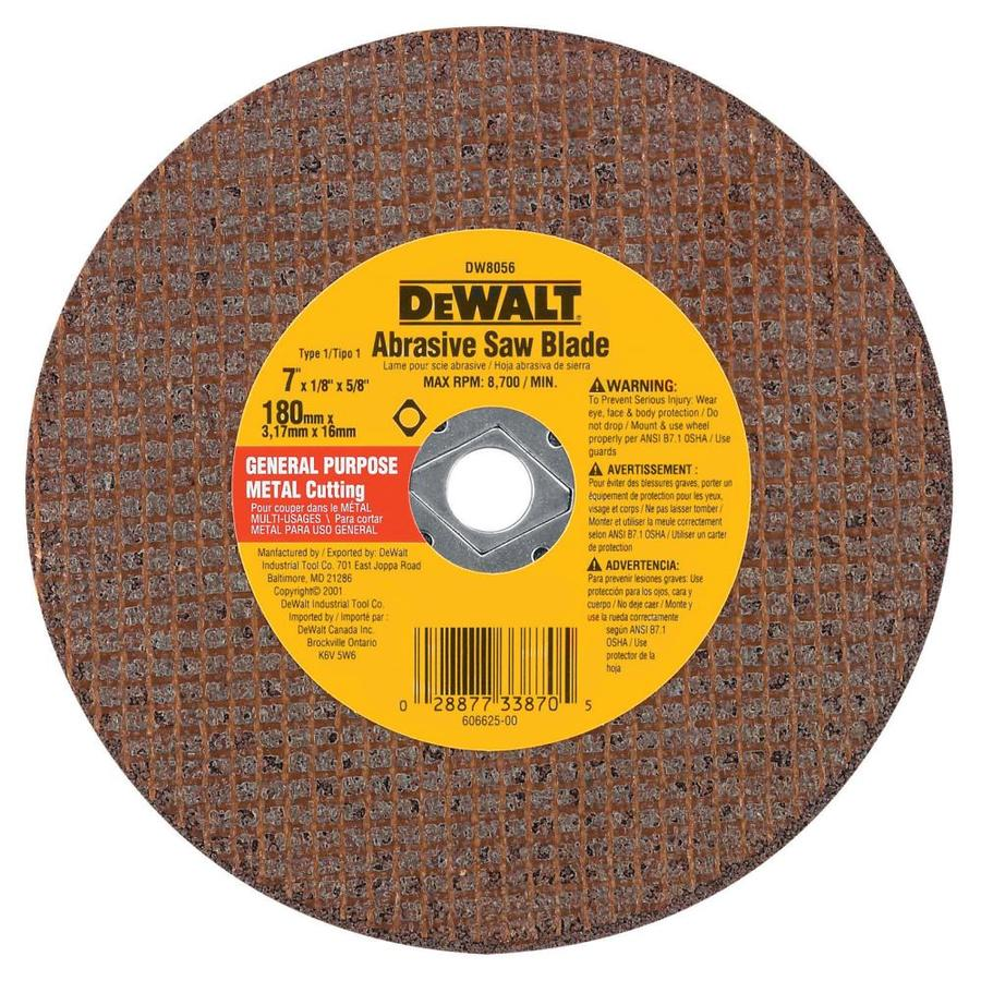 DEWALT 7-in 0-Tooth Dry Turbo High-Performance Aluminum Oxide Circular Saw Blade
