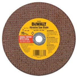 "7""X1/8"" RED CERAMIC ABRASIVE SAW BLADE"