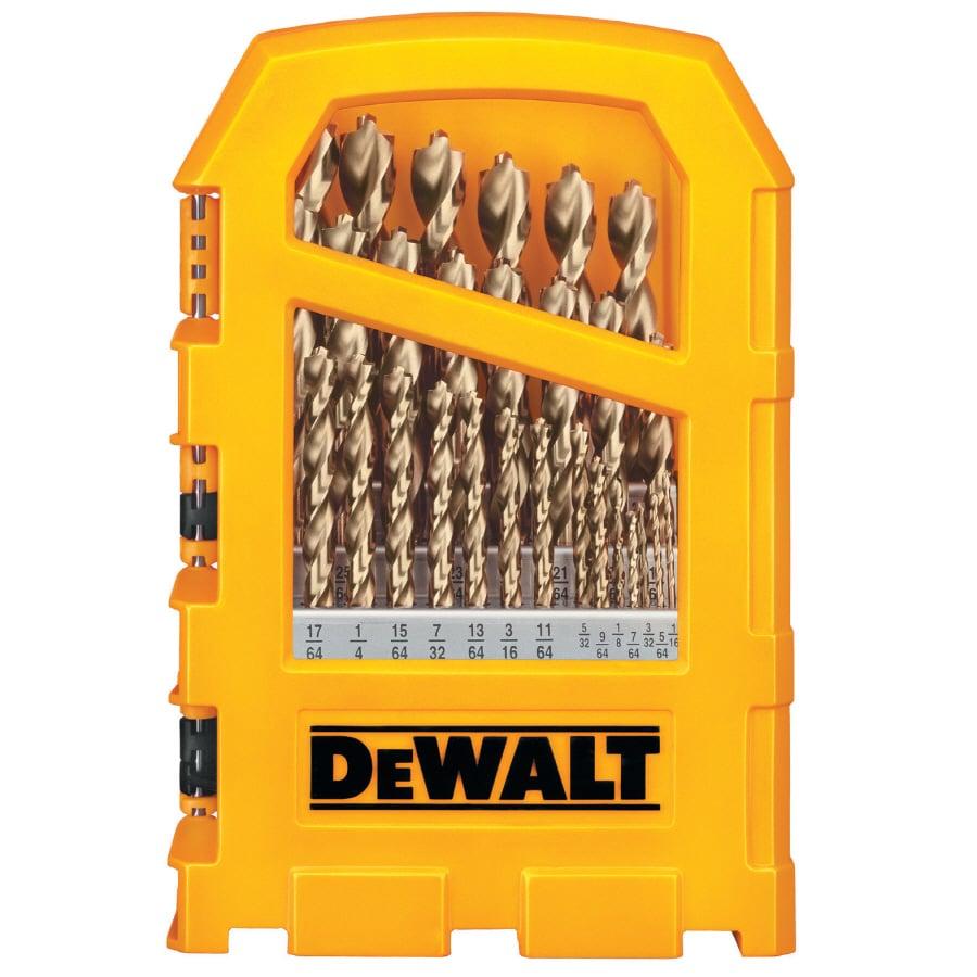 DEWALT 29-Pack Gold Ferrous Twist Drill Bit Set