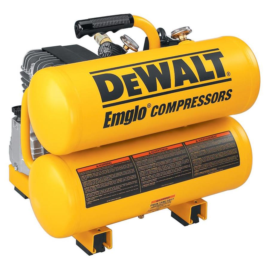 DEWALT 4-Gallon Portable Electric Twin Stack Air Compressor