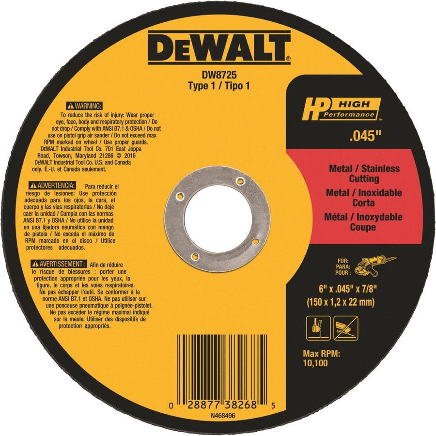 DEWALT 6-in Turbo High-Performance Aluminum Oxide Circular Saw Blade