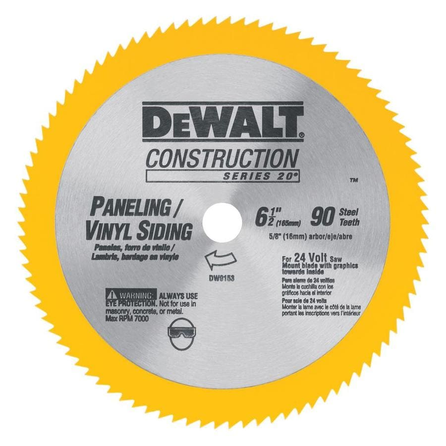 DEWALT Construction 6-1/2-in Turbo Circular Saw Blade