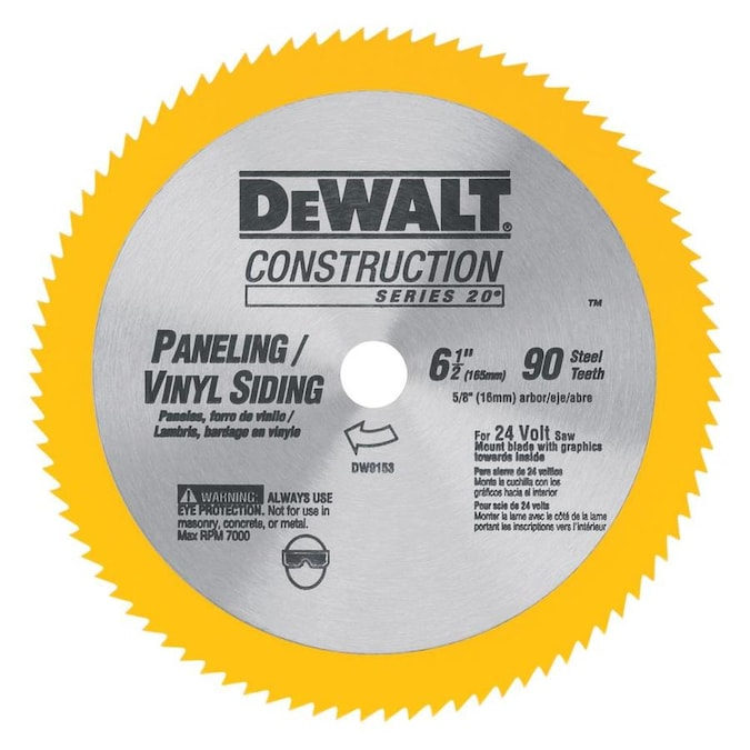 Dewalt Construction 6 1 2 In 90 Tooth Turbo High Speed Steel Circular Saw Blade In The Circular Saw Blades Department At Lowes Com
