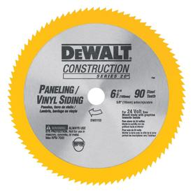 DEWALT Construction 6-1/2-in 90-Tooth Turbo High-Speed Steel Circular Saw Blade