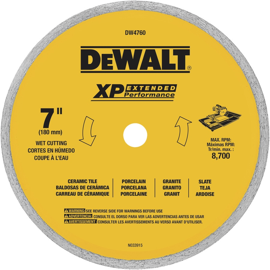 DEWALT 7-in Wet Continuous Diamond Circular Saw Blade