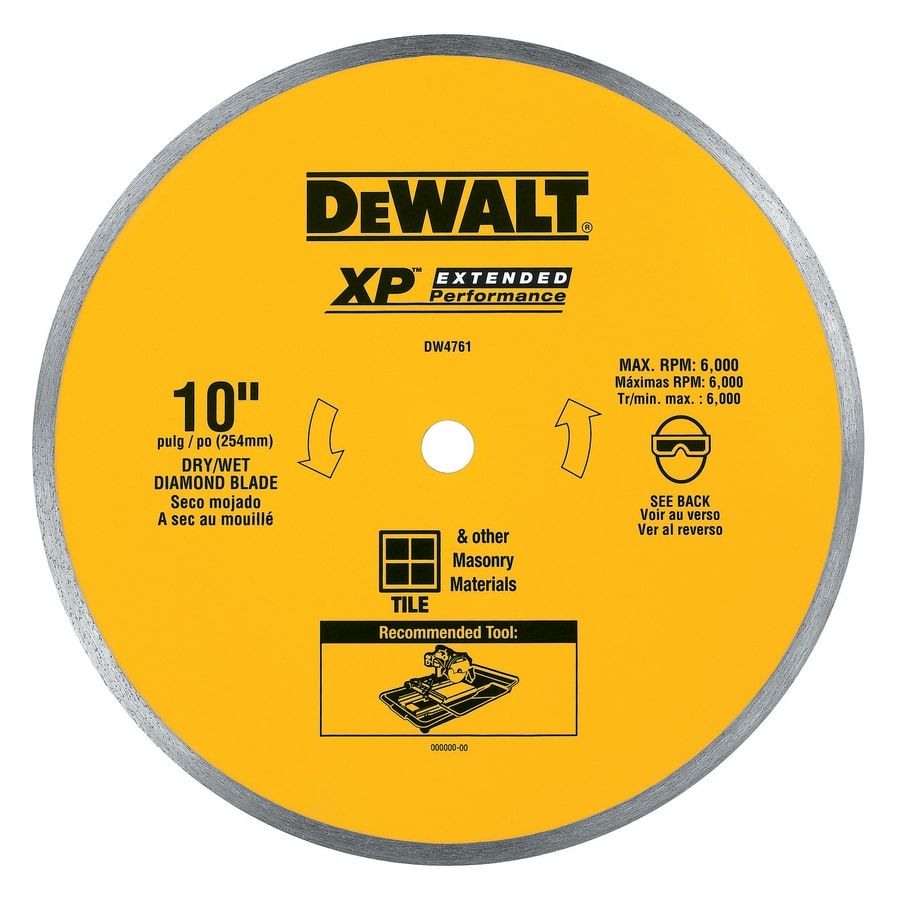 DEWALT 10-in 0-Tooth Wet Continuous Diamond Circular Saw Blade