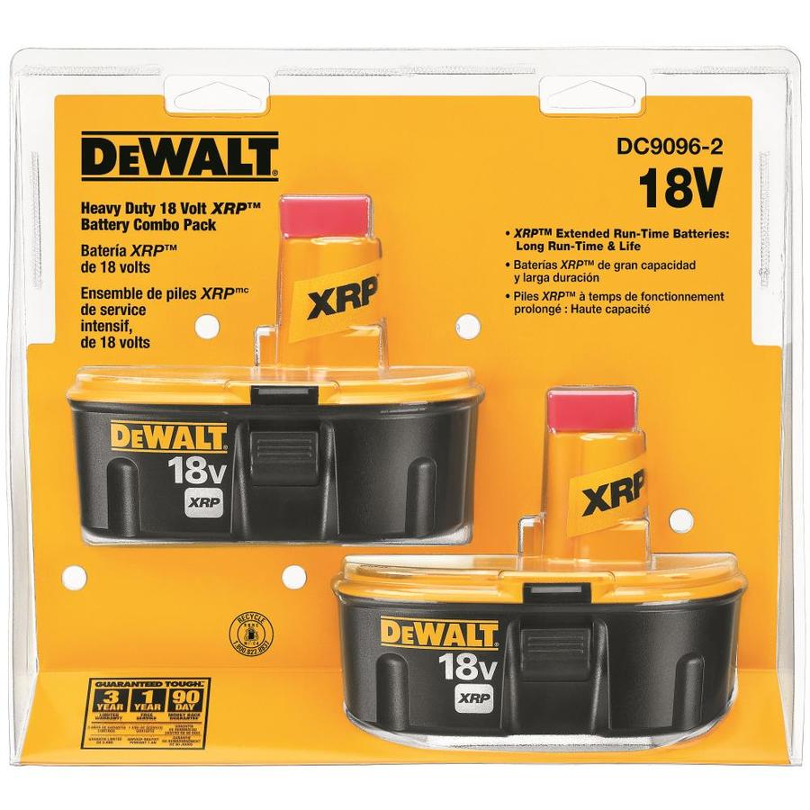 DEWALT 2-Pack 18-Volt 2.4-Amp Hours Nickel Cadmium (NiCd) Power Tool Batteries