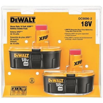 DEWALT 2-Pack 18-Volt 2 4-Amp-Hours/2 4-Amp-Hours Nickel