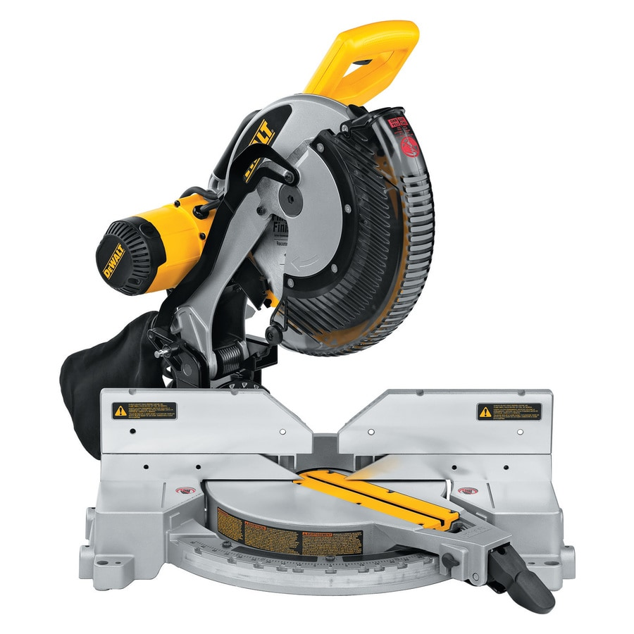 dewalt 12 in 15 amp dual bevel compound miter saw at lowes com