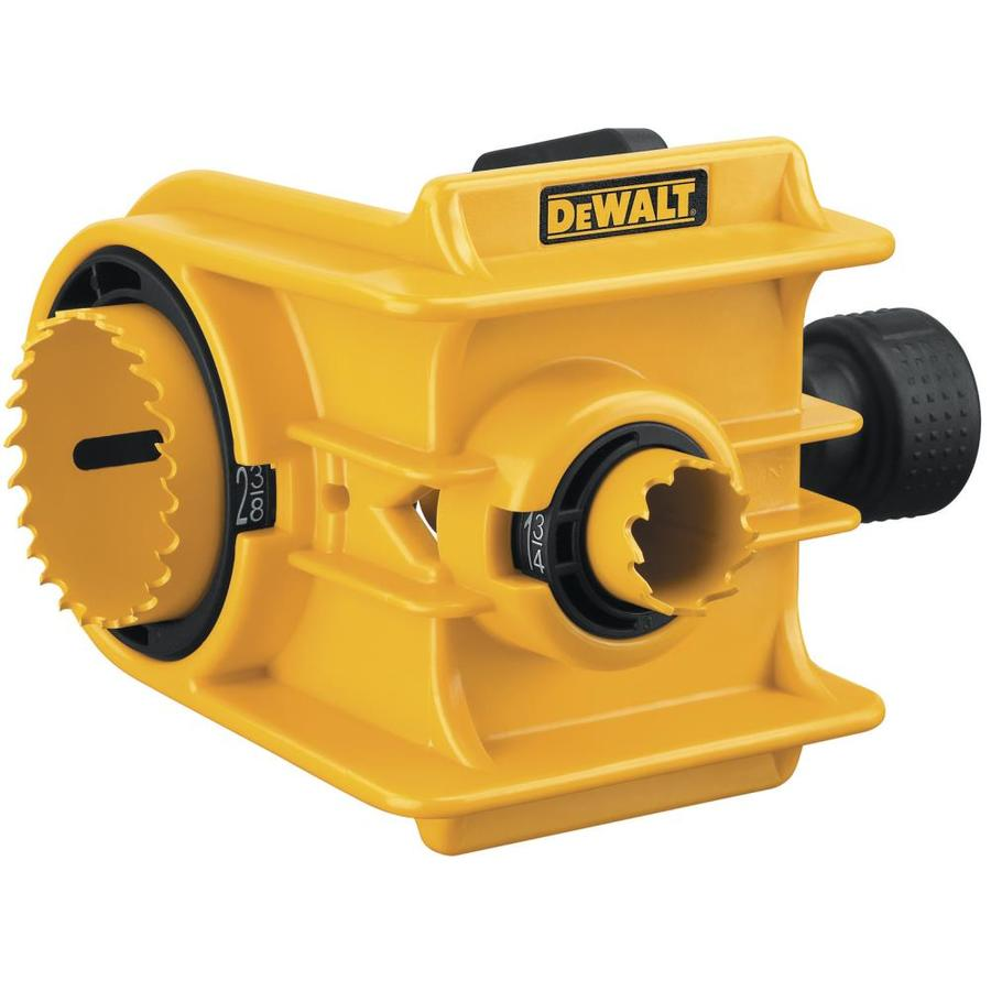 Door Knob Installation Kit : Shop dewalt bi metal door lock hole saw kit at lowes
