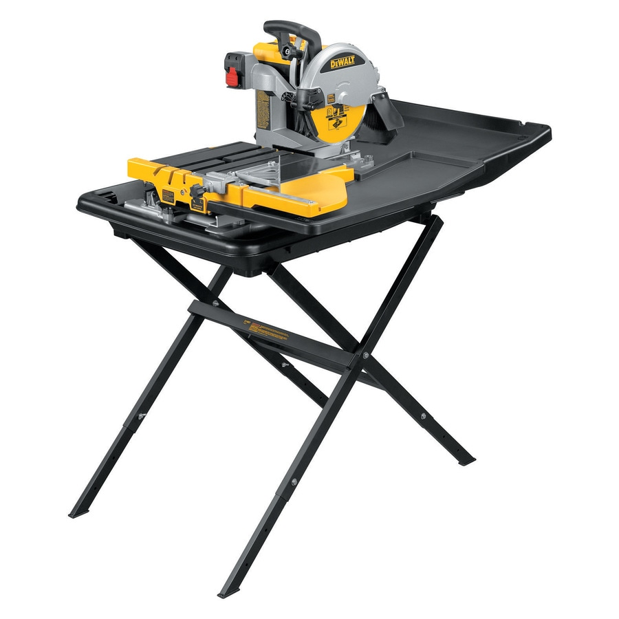 DEWALT 10-in 1.5 Wet/Dry Bridge Sliding Table Tile Saw with Stand
