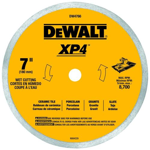 Dewalt 7 In Wet Continuous Diamond Tile Saw Blade In The Circular Saw Blades Department At Lowes Com