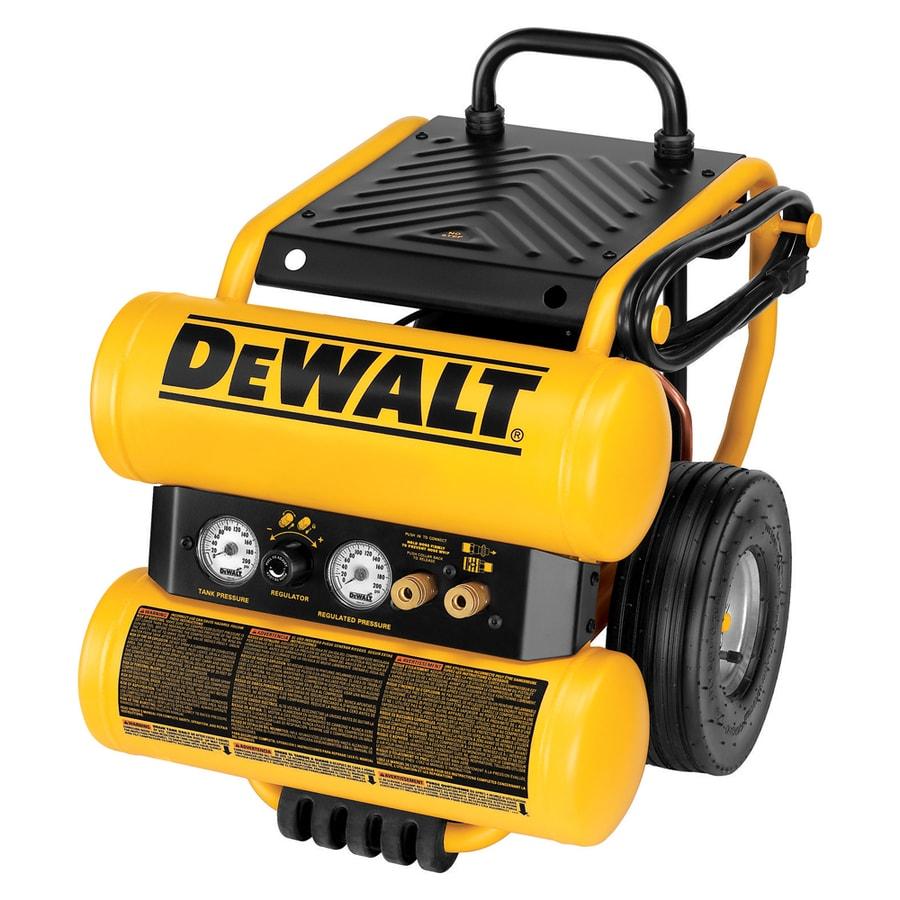 DEWALT 1.1-HP 4-Gallon 125-PSI 120-Volt Twin Stack Portable Electric Air Compressor